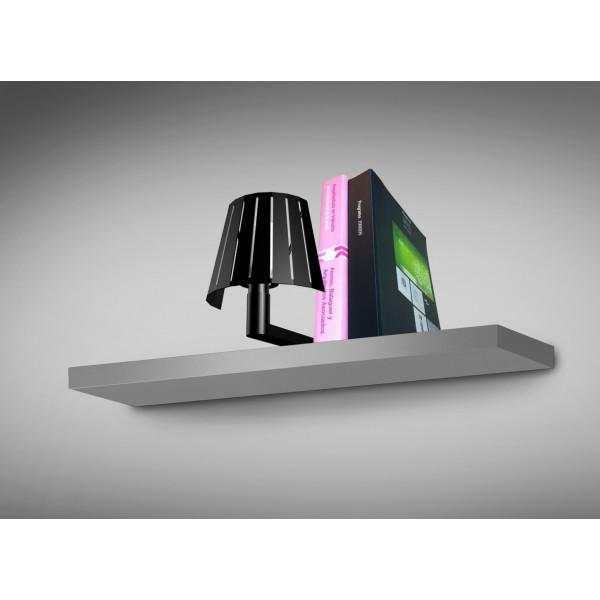 Lampe étagère cale livre noire