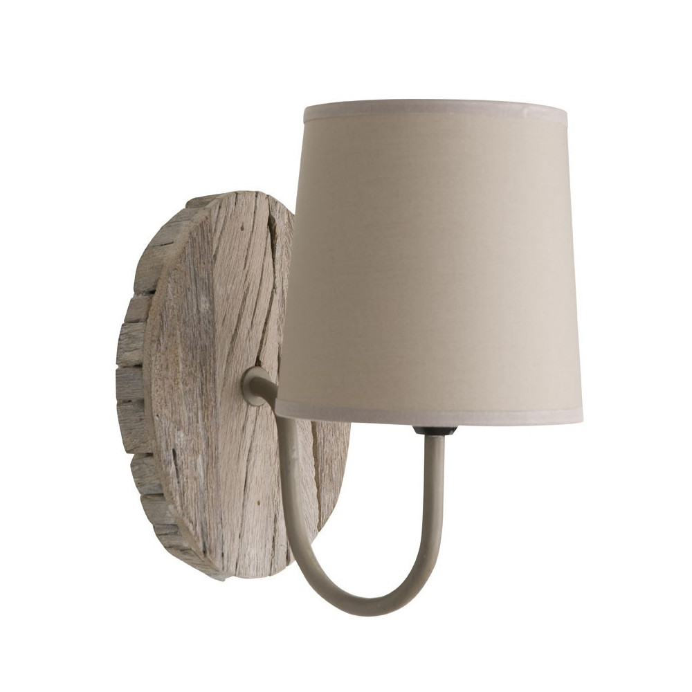 applique ronde en bois de r cup luminaire applique murale. Black Bedroom Furniture Sets. Home Design Ideas