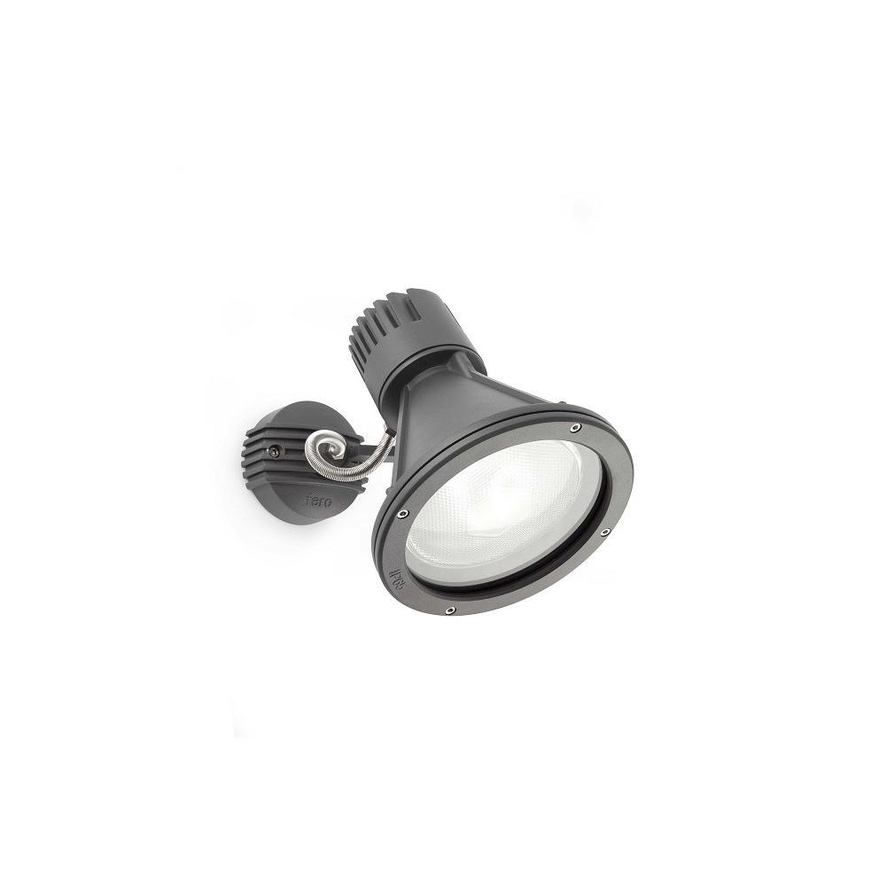 Applique projecteur ext rieur gris fonc luminaire faro for Spot applique exterieur