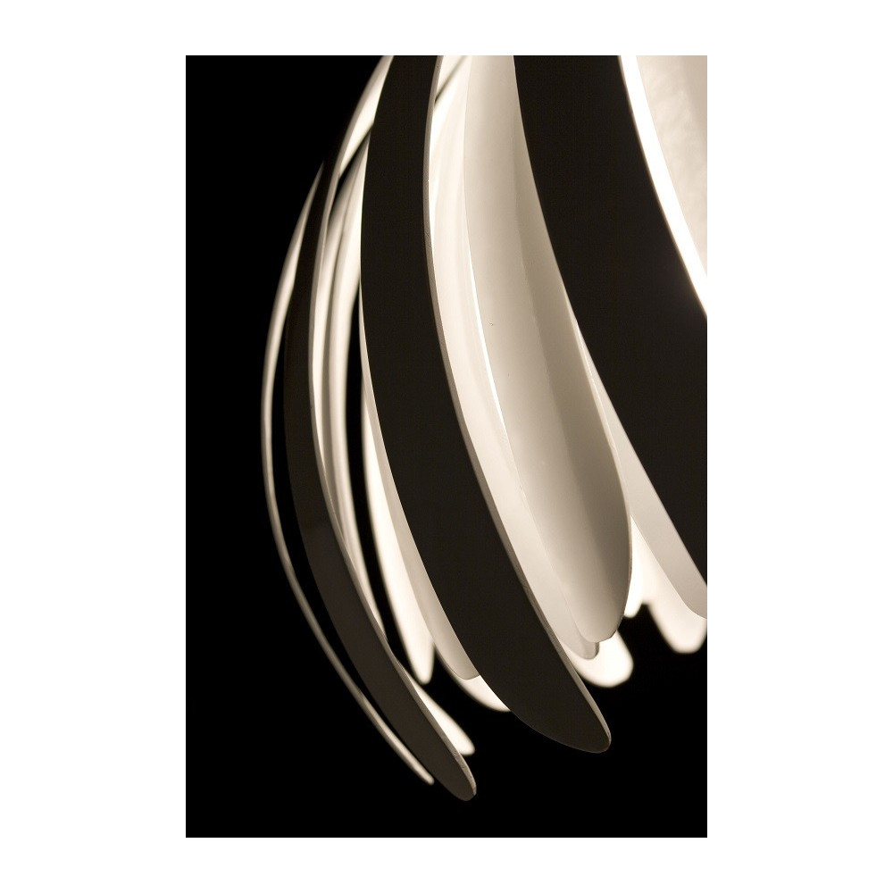 Grande suspension design lamelles blanches lampe avenue - Grande suspension design ...