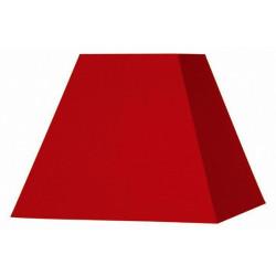 Abat-jour carré pyramide rouge