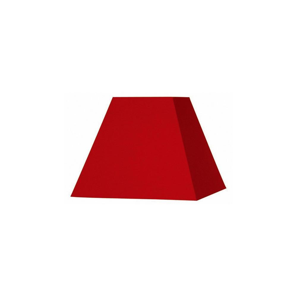 abat jour carr pyramide rouge sur lampe avenue. Black Bedroom Furniture Sets. Home Design Ideas