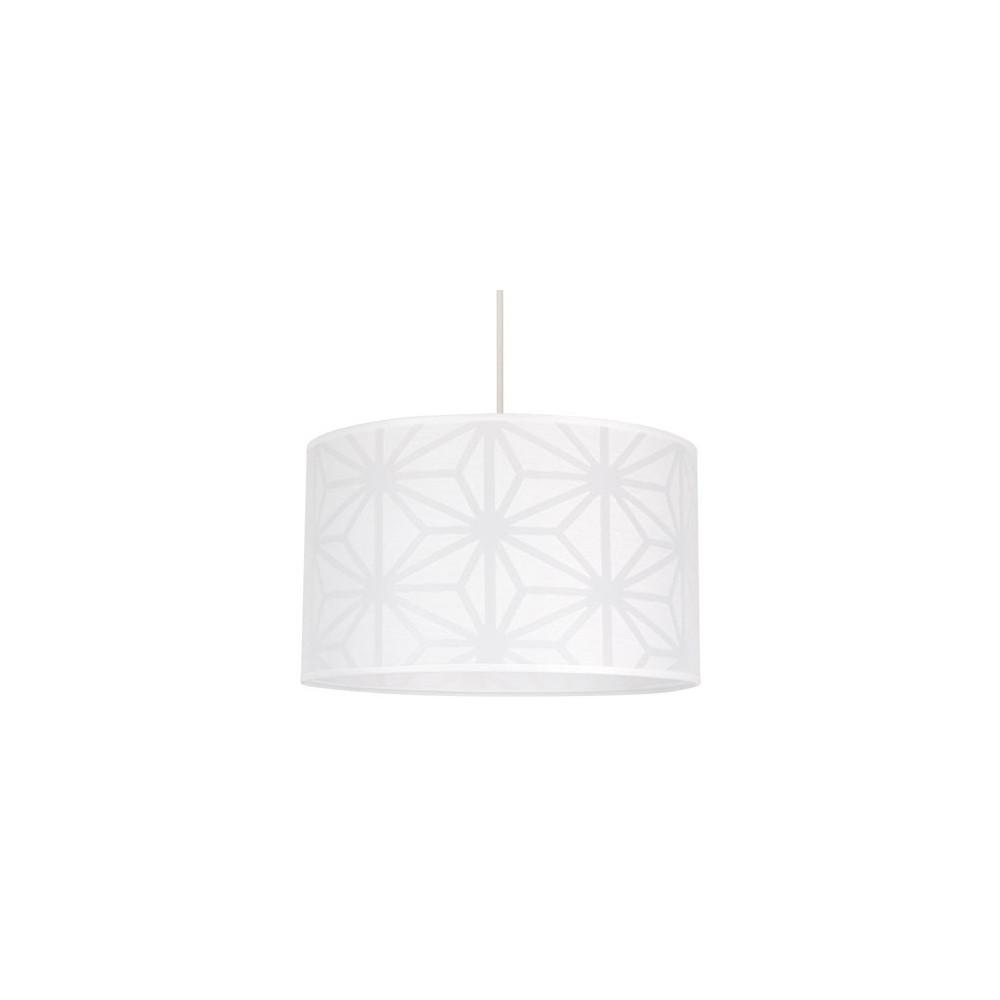 suspension blanche origami avec motifs sur lampe avenue. Black Bedroom Furniture Sets. Home Design Ideas