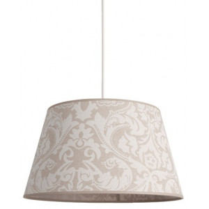 Suspension beige motifs blancs