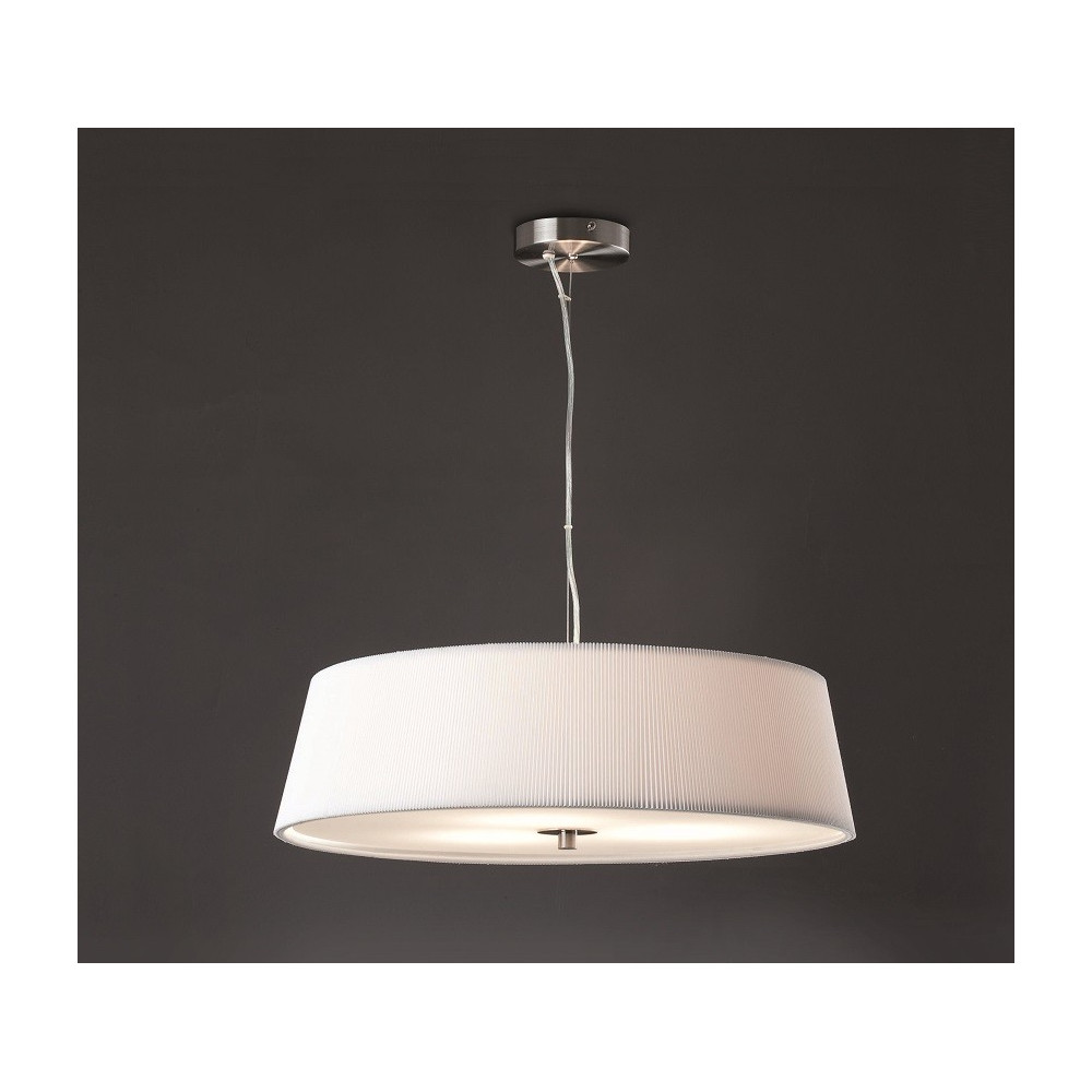 Grande suspension blanche au design l gant avec diffuseur for Suspension blanche design