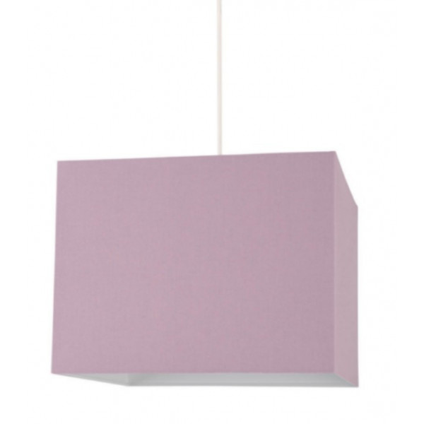 Suspension abat-jour violet