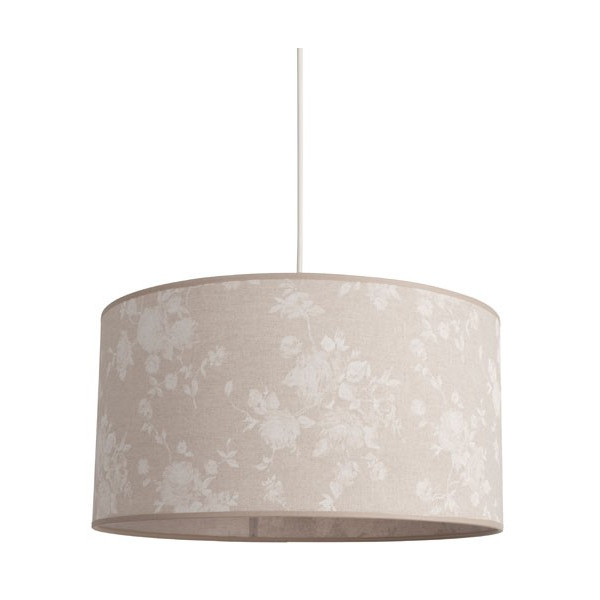 Suspension abat-jour en lin beige