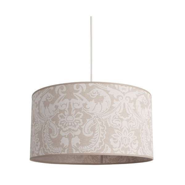 Suspension abat-jour lin beige
