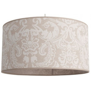 Suspension en lin beige motifs blancs