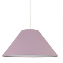 Suspension abat-jour conique violet
