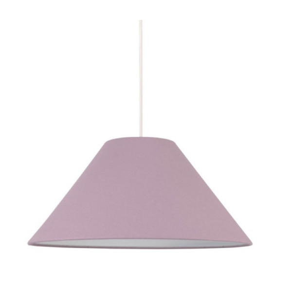 Suspension abat-jour conique violet
