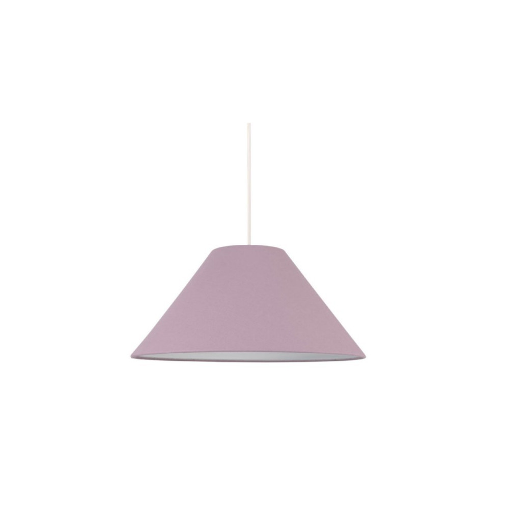 Suspension abat jour conique violet luminaire int rieur for Luminaire abat jour suspension