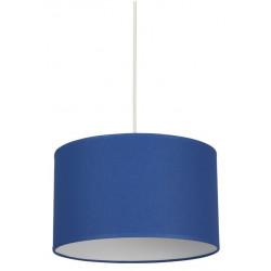 Suspension cylindre classique bleu