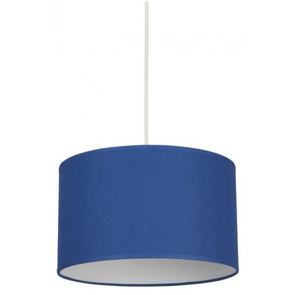suspension abat jour cylindrique classique bleu