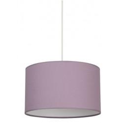 Suspension cylindre classique violet