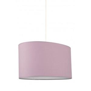 Suspension ovale abat-jour violet