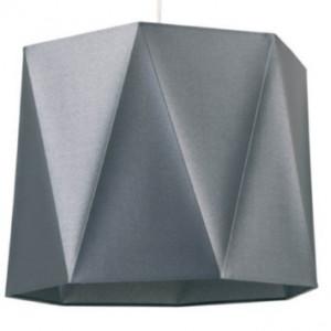 Suspension abat-jour gris métal