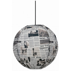 Suspension boule newspaper