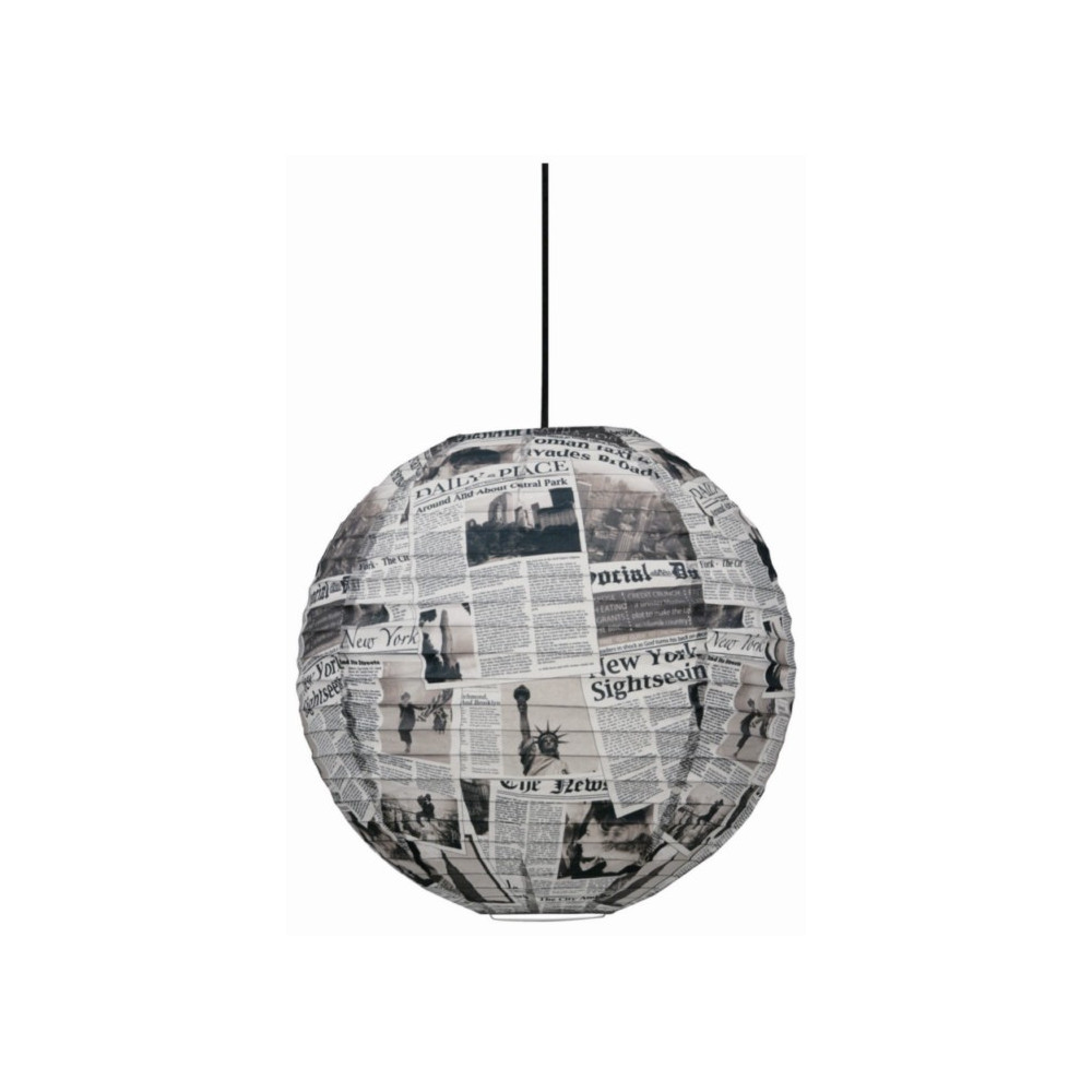 Suspension boule japonaise style newspaper sur lampe avenue for Lampe japonaise exterieur