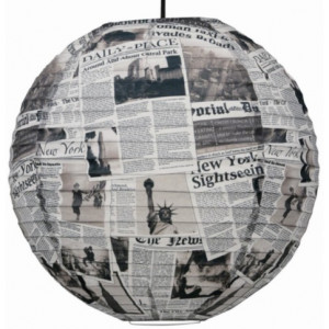 Suspension boule japonaise newspaper