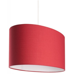 Grande suspension ovale abat-jour rouge