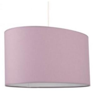 Grande suspension violette abat-jour ovale