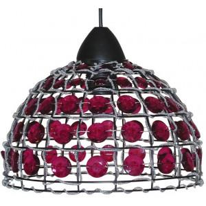 Suspension dôme avec perles roses
