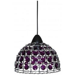 Suspension avec perles violettes