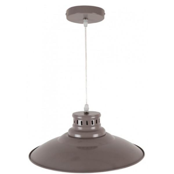 suspension cuisine en m tal coloris taupe vente luminaire sur lampe avenue. Black Bedroom Furniture Sets. Home Design Ideas