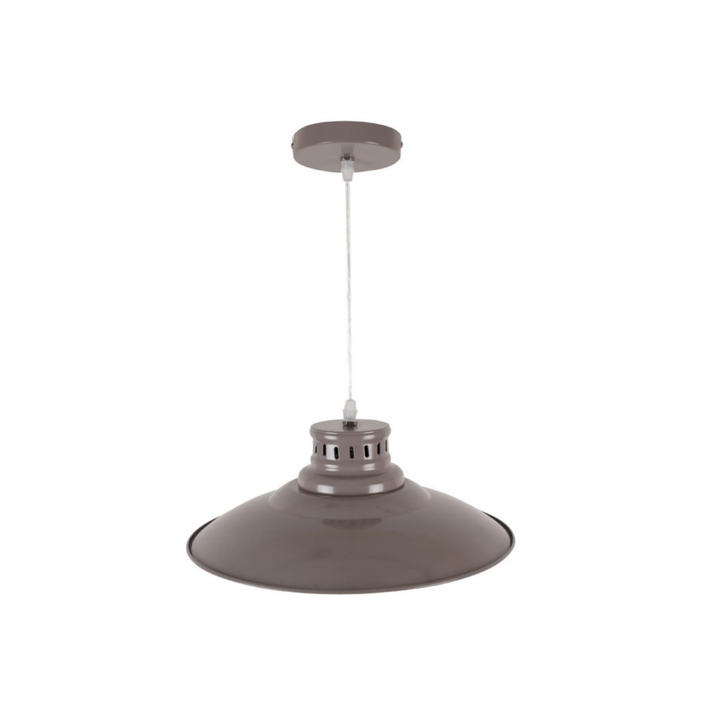 Suspension cuisine en m tal coloris taupe vente for Suspension metal cuisine