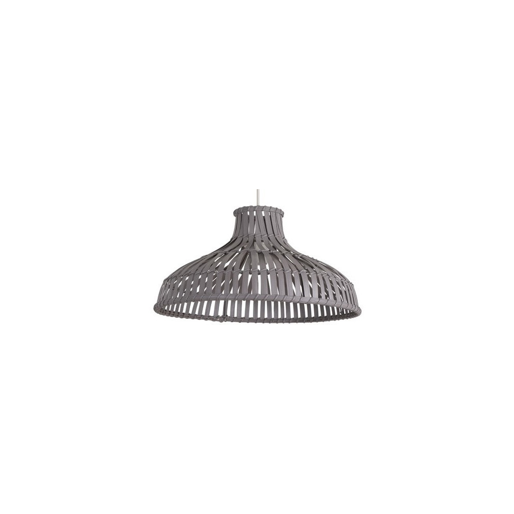 Suspension bambou gris luminaire bois sur lampe avenue for Suspension grise