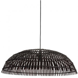 Grande suspension en bambou noir