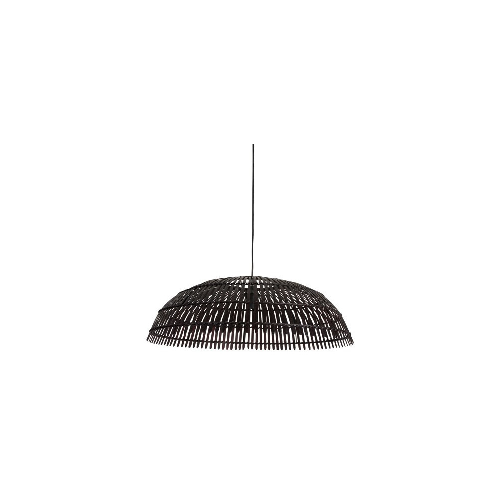 Grande suspension en bambou noir vente luminaire d co for Grande suspension luminaire