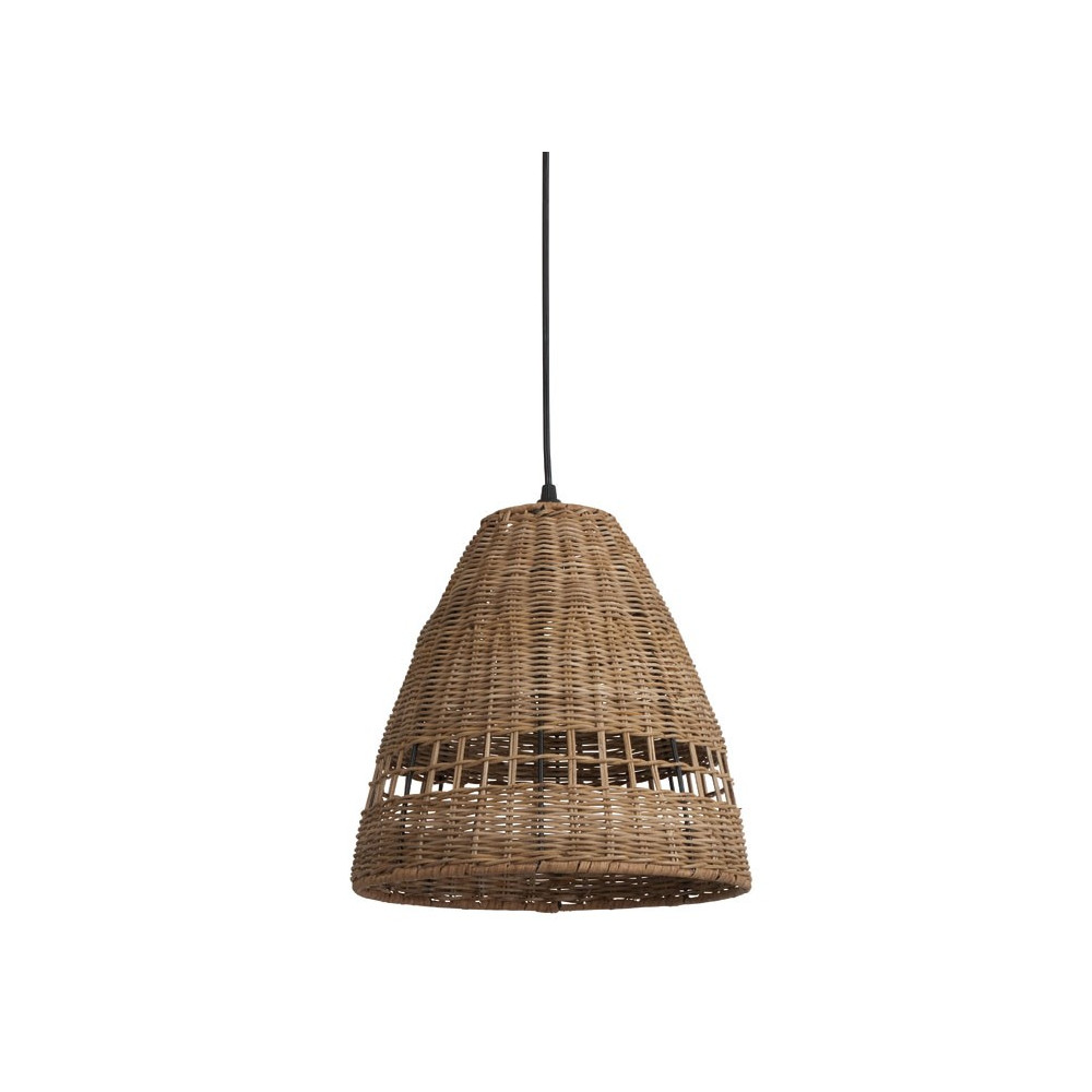 Suspension en osier suspension cloche en osier diff for Luminaire suspension osier