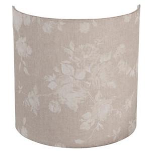 Applique murale en lin beige avec motifs floraux