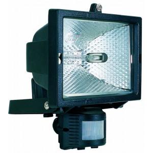 Projecteur noir avec d tecteur de pr sence - Luminaire exterieur detecteur de presence ...