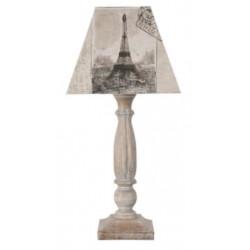 Lampe en bois motifs cartes postales