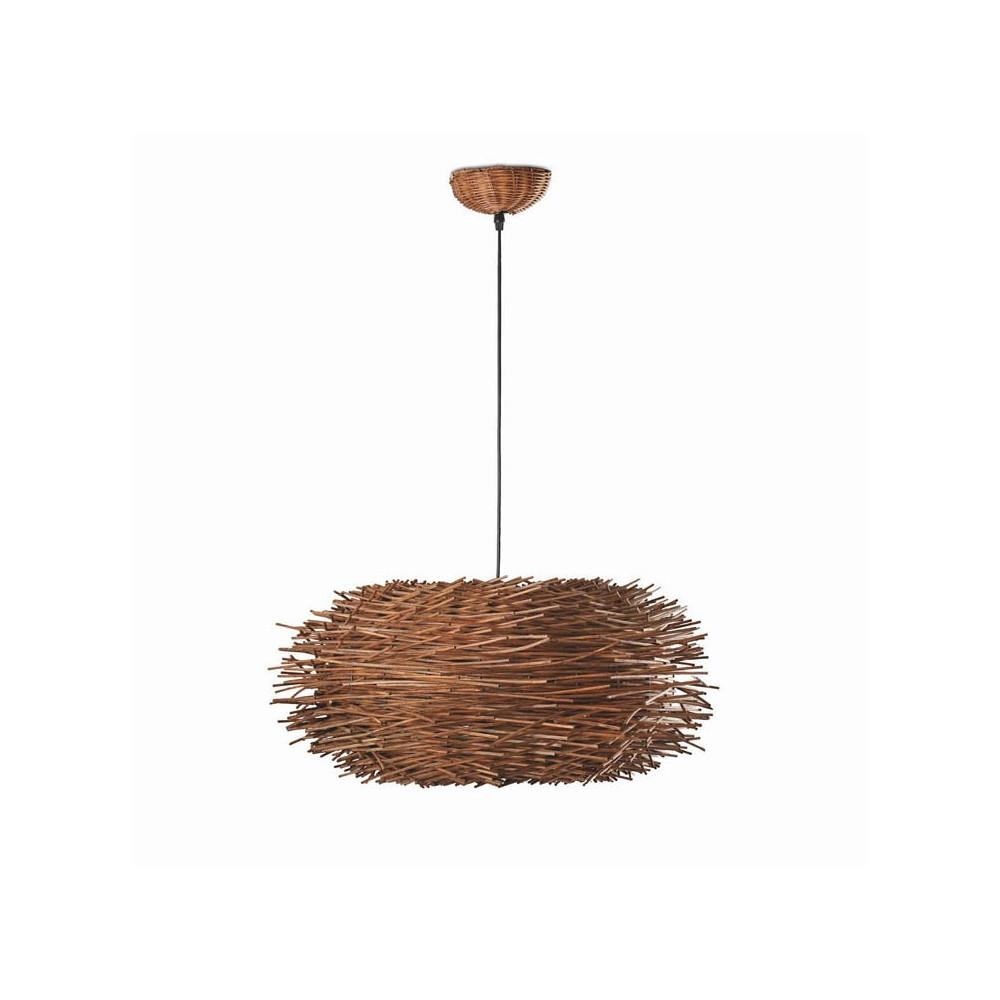 grande suspension brindilles de rotin en vente sur lampe avenue. Black Bedroom Furniture Sets. Home Design Ideas
