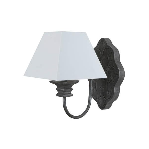 applique classique en bois abat jour blanc lampe avenue. Black Bedroom Furniture Sets. Home Design Ideas