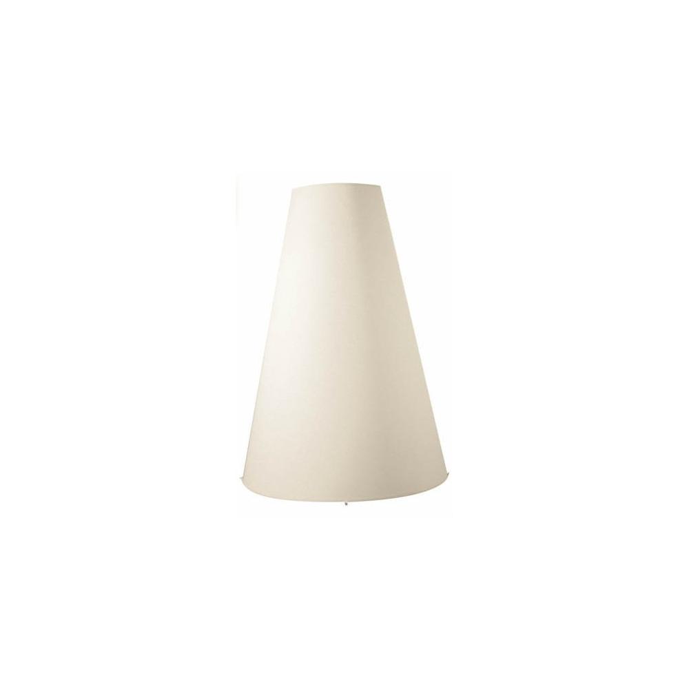 Grand abat jour conique blanc cr me lampe avenue - Abat jour lampe de chevet ...
