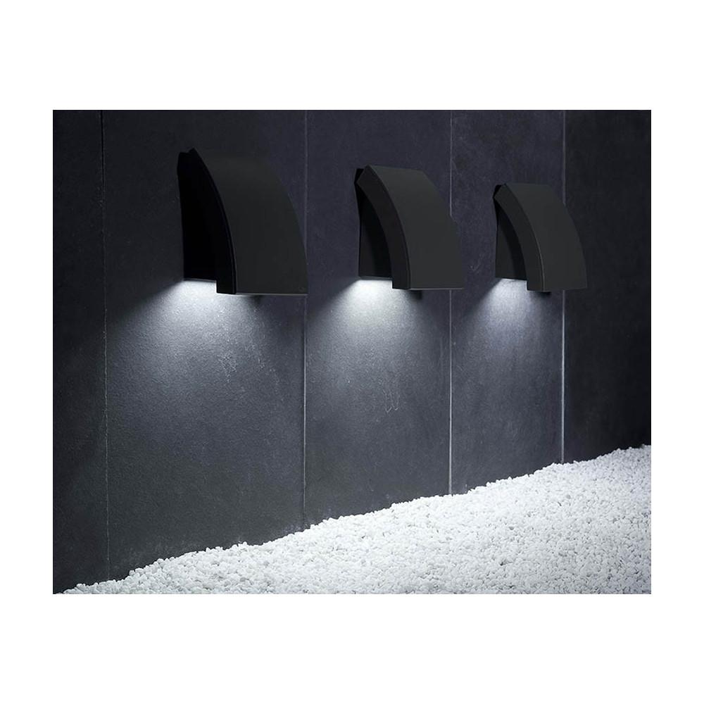 Applique extérieure design moderne en alu gris foncé - Lampe Avenue