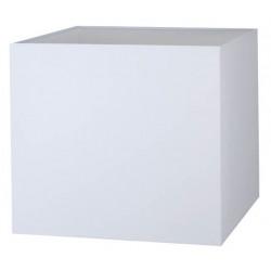 Abat-jour carré blanc en coton
