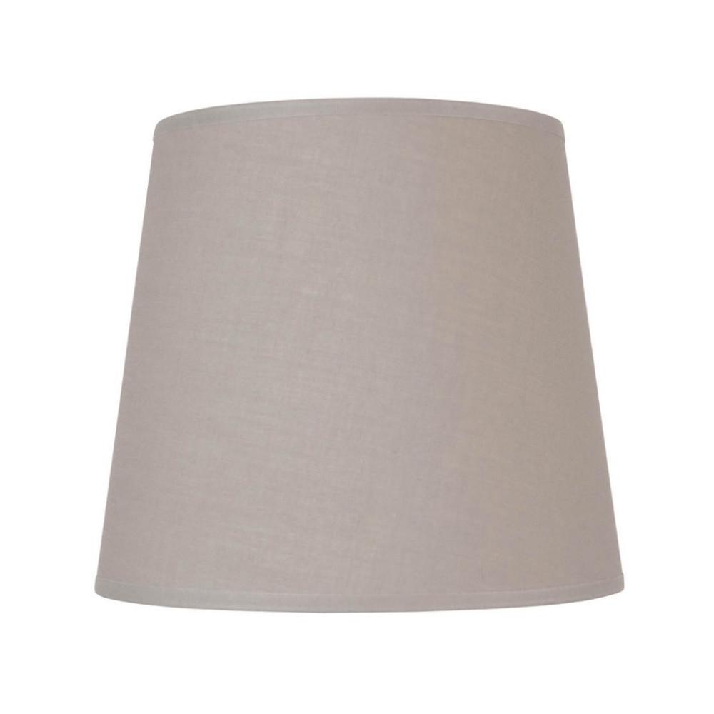 abat jour conique gris clair en coton lampe avenue. Black Bedroom Furniture Sets. Home Design Ideas