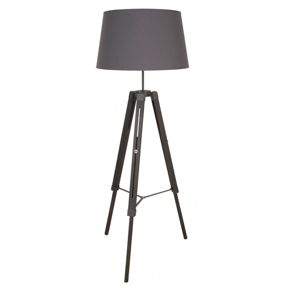 lampadaire tr pied en bois gris ardoise lampadaire d co. Black Bedroom Furniture Sets. Home Design Ideas