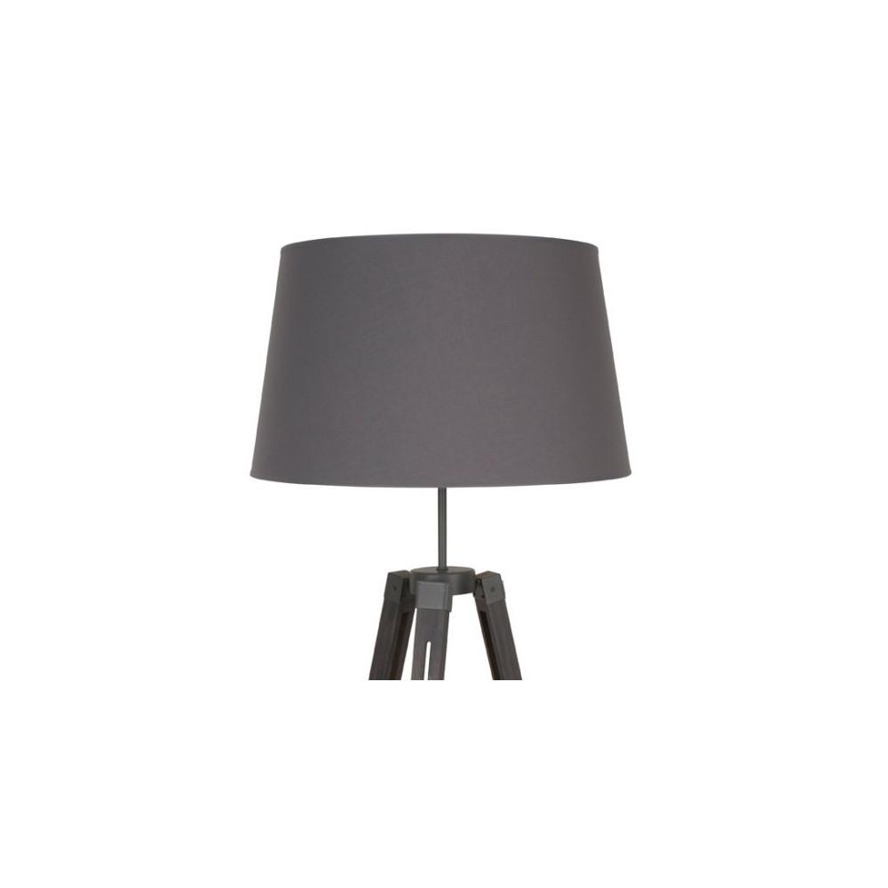 Lampadaire tr pied en bois gris ardoise lampadaire d co for Lampe sur trepied en bois