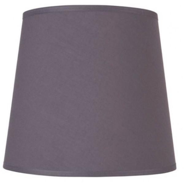 Abat-jour coton conique gris ardoise