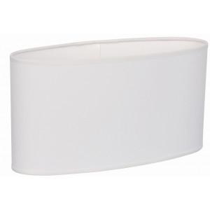 Grand abat-jour ovale blanc