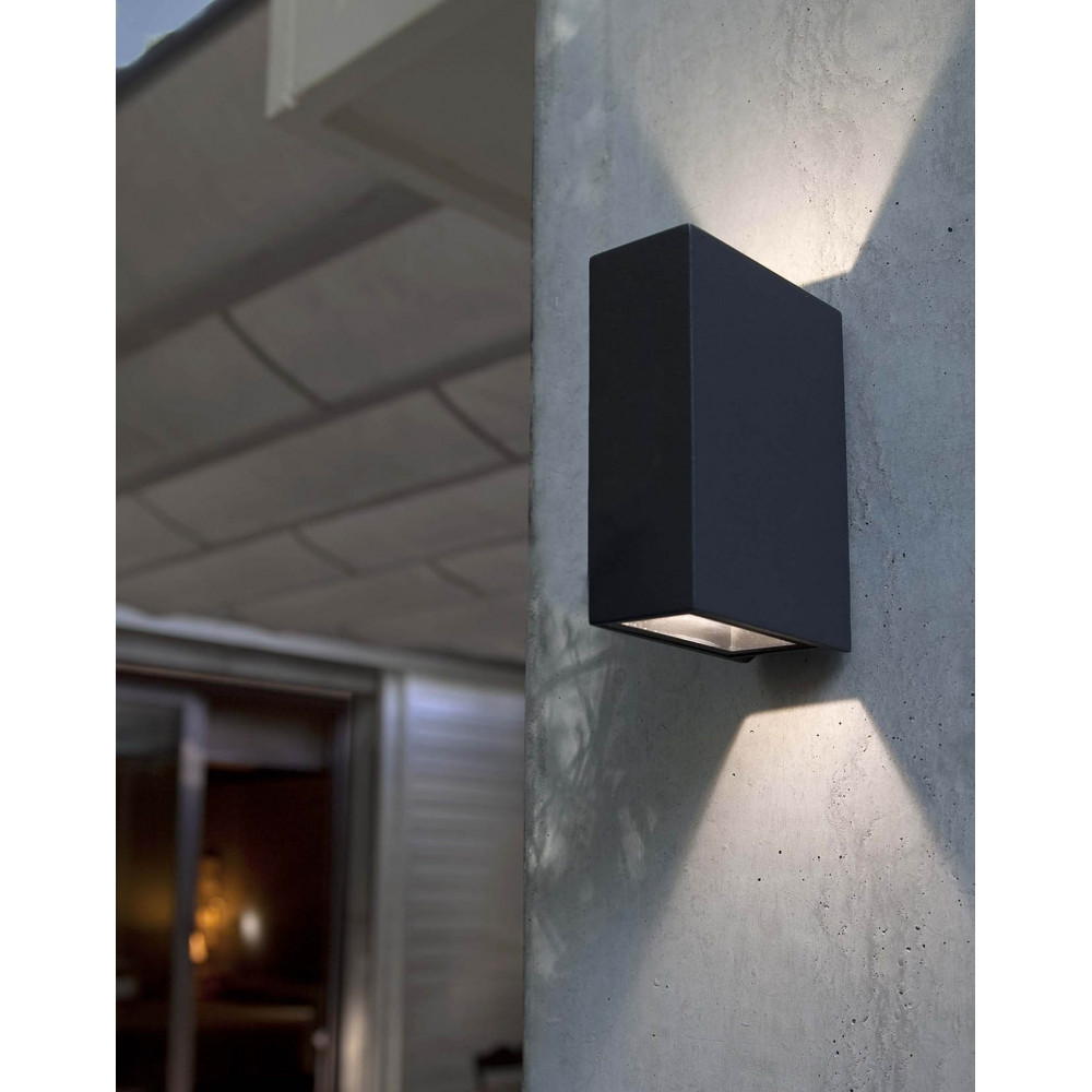 Vente d 39 applique exterieur grise led sur lampe avenue for Lampe d exterieur a led