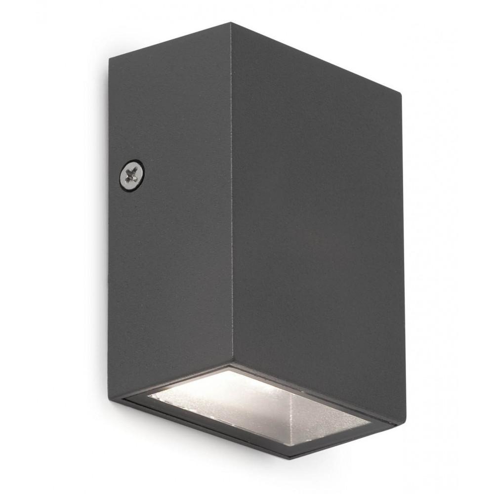 Applique d 39 exterieur cube gris fonc design led for Cube luminaire exterieur