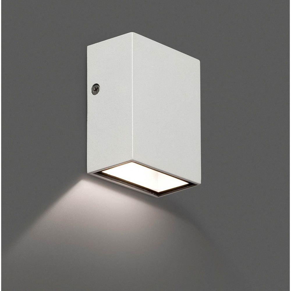 Applique exterieur cube design blanc led for Spot applique exterieur